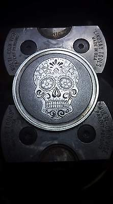 Coalburn classic Hobo Nickel engraved sugar skull  1 ounce silver round OHns
