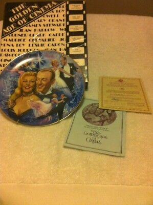 Golden Age Of Cinema Plate--Fred & Ginger--#0288--Free Ship--New In Box