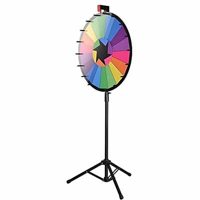 "WinSpin 24"" Casino Prize Wheels Editable Color Prize Wheel Of Fortune 18 Slot"