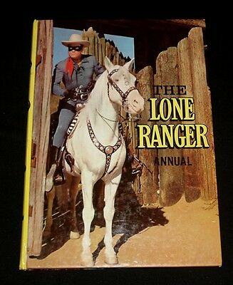 LONE RANGER 1950s TV COWBOY SHOW ANNUAL HB Nice Condition !  Clayton Moore