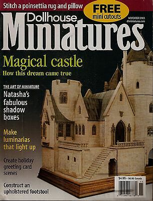 Dollhouse Miniatures, November 2003 - Magical Castle, Luminaries, Footstool