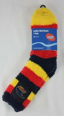 Adelaide Crows AFL Footy Ladies Youths Soft Bed Socks