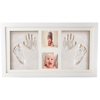 Premium Newborn Baby Hand Print and Footprint Photo Frame Kit - Cool & Unique Ba