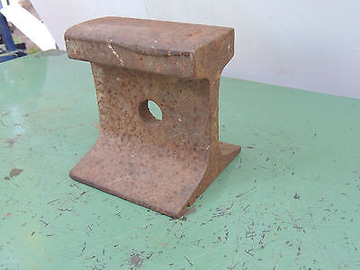 "Antique Vintage Railroad Track Blacksmith Anvil 5"" Long 6 "" tall 16 lbs"