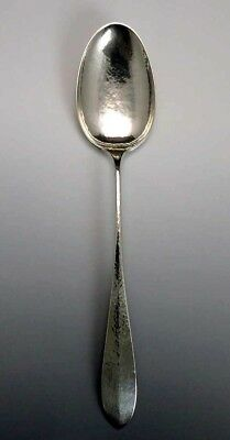 Fab American Arts & Crafts Sterling Silver Handwrought Serving Spoon