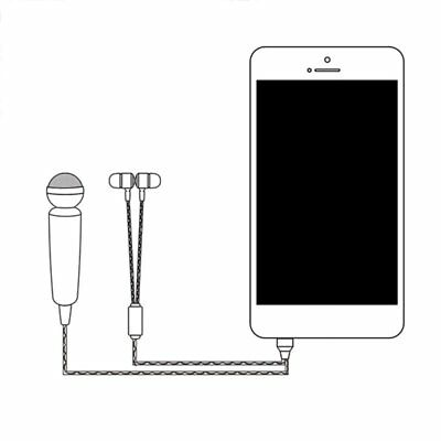 Mini Mobile Phone Microphone 3.5mm Jack Condenser Sing Wired With Earphone AU