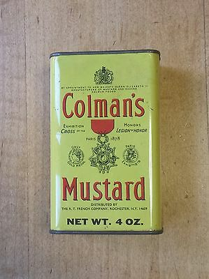 Vintage Colman's Mustard Tin 4 oz. Superfine & Lustrous Made in Britain Beauty!