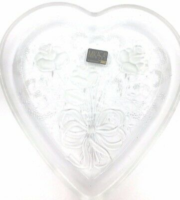 Mikasa Crystal Heart Shaped Rose Bouquet Serving Tray. SALE BY WEARETHEDEALS