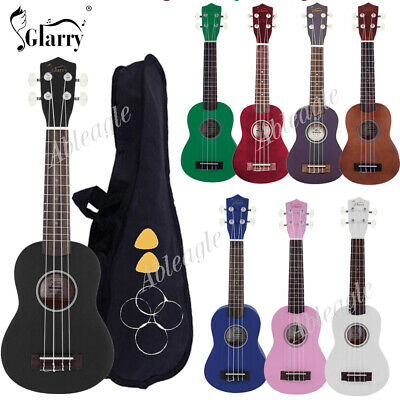 "21"" Rainbow Soprano Basswood Ukulele Uke Children's Little Guitar with Gig Bag"