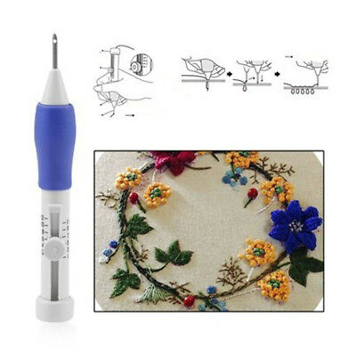 6Pcs  ABS Plastic Crafts Magic Embroidery Pen Set 1.3mm 1.6mm 2.2mm Punch Needle