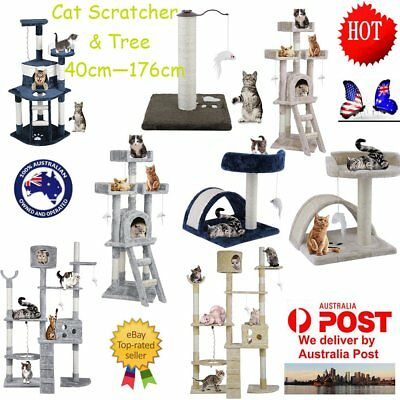 Cat Tree Scratching Post Scratcher Pole Gym Toy House Furniture Multilevel OZ