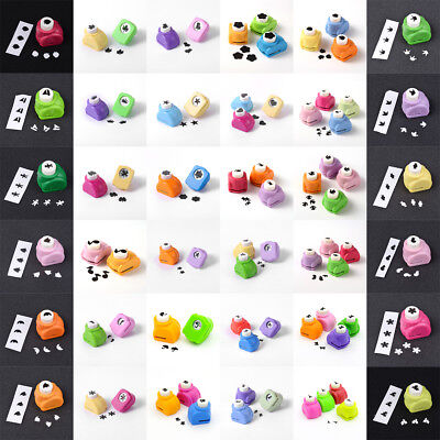 Random Color Mini Plastic Paper Punches Craft Cutter Scrapbooking Pick Patterns