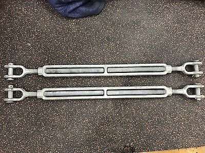 "Crosby Galvanized Steel Jaw and Jaw Turnbuckle  1"" Thread Diameter  HG-228"