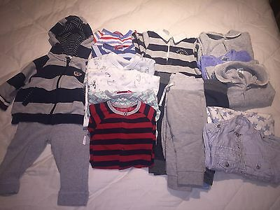 Mixed Lot (18 Items) Baby Boy Winter Clothes Sz 0 Sprout, Next, Bonds, Pure Baby