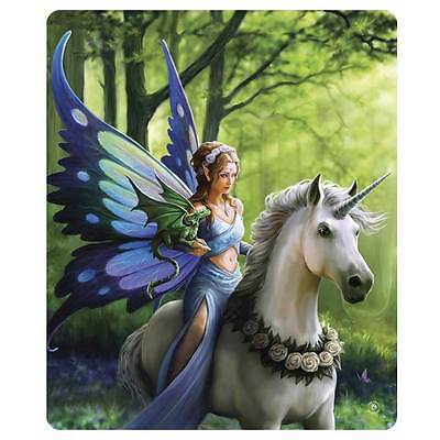 Anne Stokes Realm Of Enchantment Fairy Unicorn Mythical Throw Rug