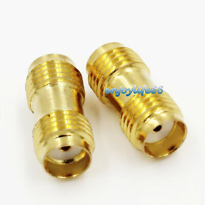 2x SMA Female to SMA Female Jack Straight in Series RF Coaxial Adapter Connector