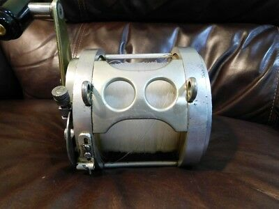 Fin Nor Vintage Silver Gold Fishing Reel