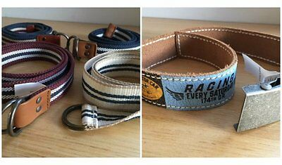 5 woven or leather belts from Scotch Shrunk + Ikks for sz 6-8 boy [dc