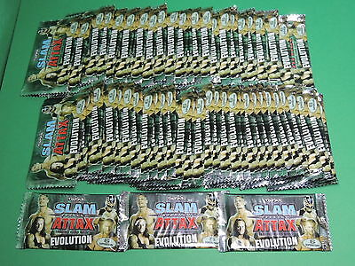 Lot 60 booster - paquet de 6 cartes SLAM ATTAX Evolution WWE trading card Topps