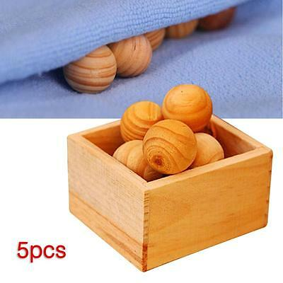 Natural Cedar Wood Moth Balls Lavender Camphor Repellent Wardrobe Drawer Home ZV