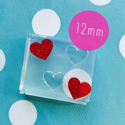 SILICONE EARRING HEART MOLD - Resin Mould Jewellery Earrings Love Valentines