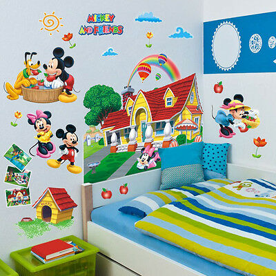 Pop 3D Mickey Mouse Clubhouse Wall Stickers Kids Bedroom Decor Decal Mural