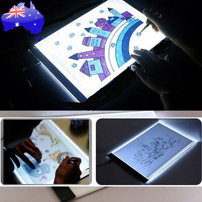 A4 LED Artist Thin Art Stencil Board Light Box Tracing Drawing Board Table New