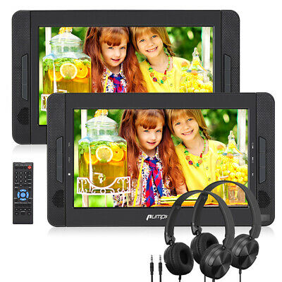 "Portable CD DVD Player Dual Screen 10.1"" TFT LCD Car Headrest USB SD Region Free"