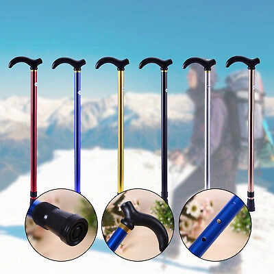 Aluminum Metal Walking Equipment Cane Adjustable Stick Folding Travel Walkers