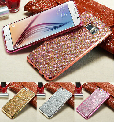 Shockproof Bling Protective Clear TPU Silicon Case Cover For Samsung S9 Plus S8