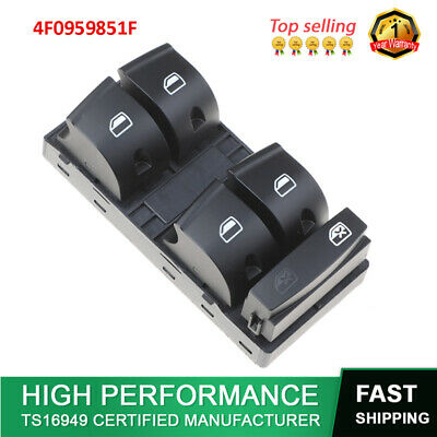 uxcell Brand New Car Driver Side Electric Power Window Control Switch for Audi A6 C5 2005-2011 4F0959851F