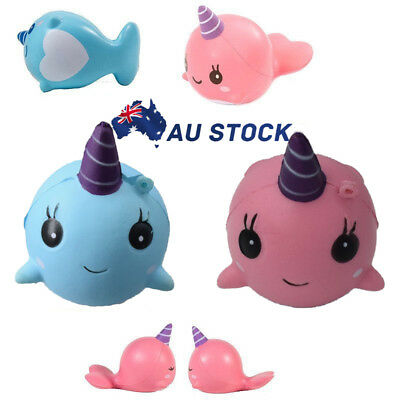 11cm Cute Whale Millie Squishy Soft Keyring Ball Chains Fun Toy Slow Rising Gift