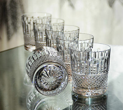 Anciens  6 Verres Whisky Cristal Taille Tommy St.louis Offre Disponile
