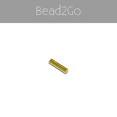 Gold Plated 925 Sterling Silver Straight Tube Beads 10x2mm- Gold Spacer Beads