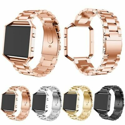 Luxury Stainless Steel Wrist Watch Band Metal Strap / Frame For Fitbit Blaze