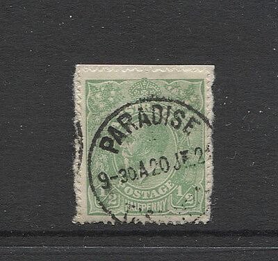 TASMANIA 1921: useful example of PARADISE Type 3 cds on a ½d green KGV defin