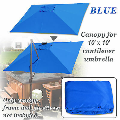 REPLACEMENT CANOPY FOR 10'x10' ROMA Cantilever Patio Umbrella Cover