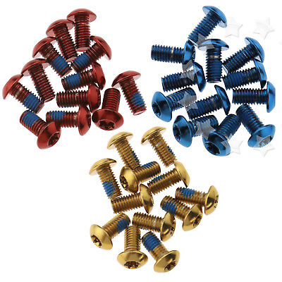 12 Pack Disc Brake Rotor Screw Bolts M5 x 10mm Fit for Bicycle MTB Bike Multi
