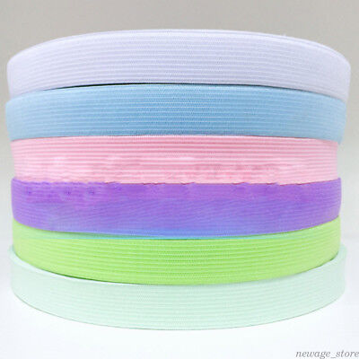1Yard Candy Color Elastic Band Cotton Woven Cord Curtain Cloth Sewing Crafts DIY