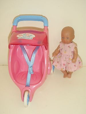 mini baby born doll and stroller