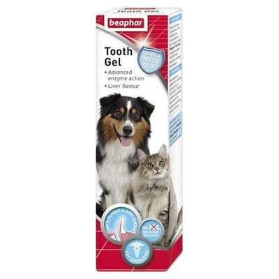 Beaphar Enzymatic Dog Puppy Kitten Cat Liver Tooth Gel Oral Dental Care 100g
