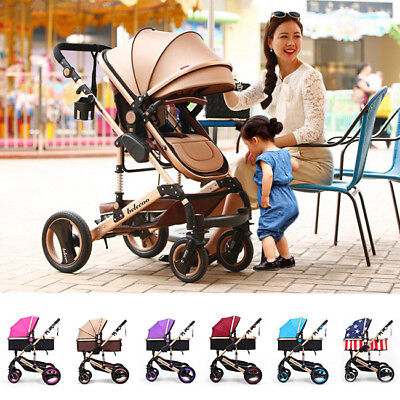Baby Stroller Shockproof Pushchair Toddler Security Pram Infant Carriage Folding