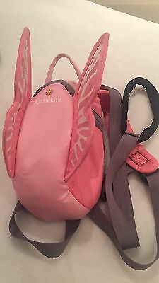 little life pink butterfly backpack with wrist reins