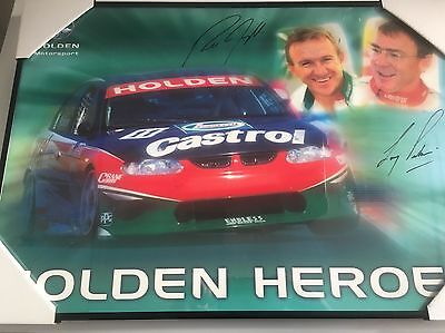 Larry Perkins, Russell Ingall Personally Hand Signed Framed Poster Price Reduced