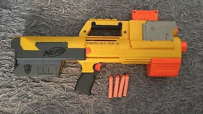 Nerf gun blaster DEPLOY CS 6 PUMP ACTION with darts Weapon