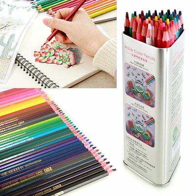 Watercolor Colored Pencils Set Water-Soluble Pencil Paint Pack 36/48/72 Colors