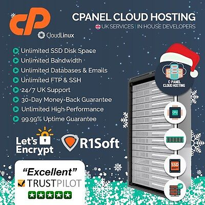 UK cPanel Could Website Hosting / Web Hosting For 1 Years Free SSL & R1Soft