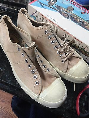 Vintage 1960's Converse Canvas Skidgrips Mens Sneakers Tennis Shoes Size 8 1/2