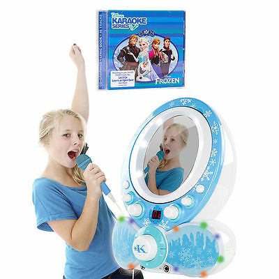 Easy Karaoke EKG8011 Glitter CDG Karaoke Machine and Disney Frozen Disc -Blue