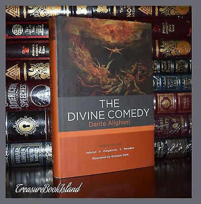 Complete Divine Comedy by Dante Aligieri Inferno Illustrated New Hardcover Gift